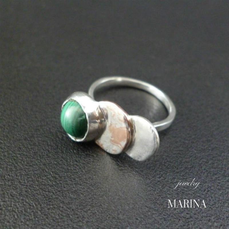 ZEBRA - ring malachite