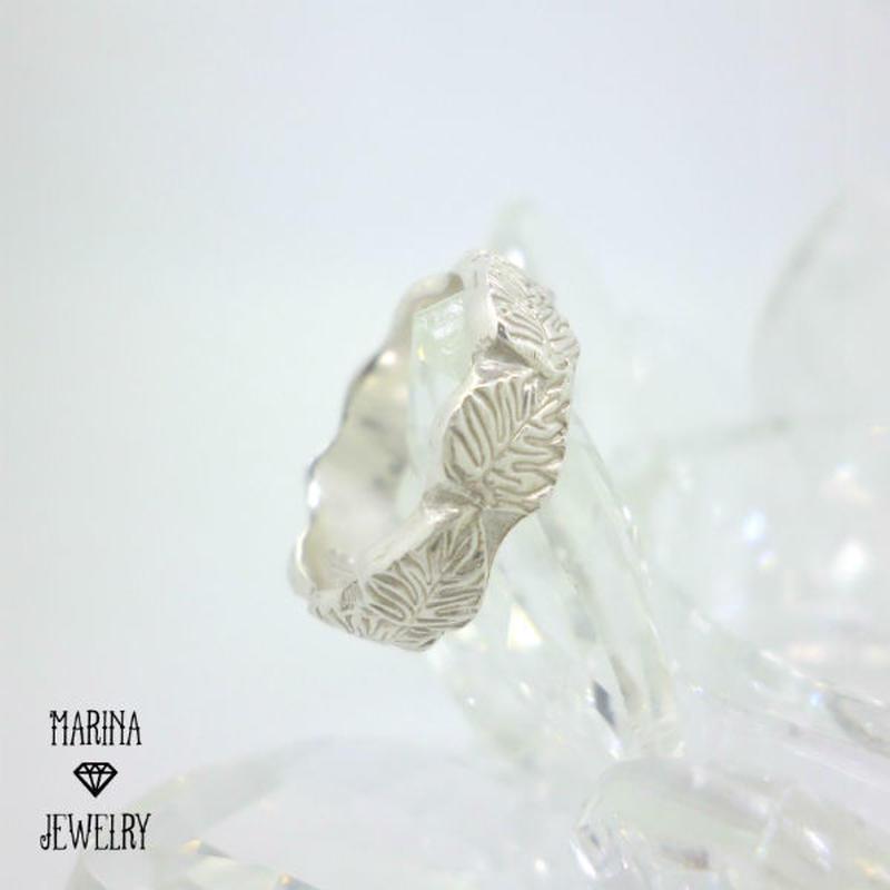 モンステラの葉のリング - silver -
