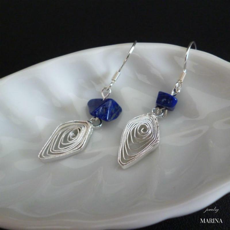 diamond silver - lapis lazuli