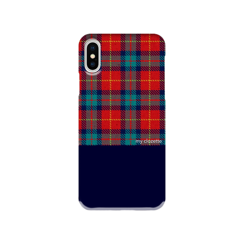 myclozette red check 片面 smart phone cover