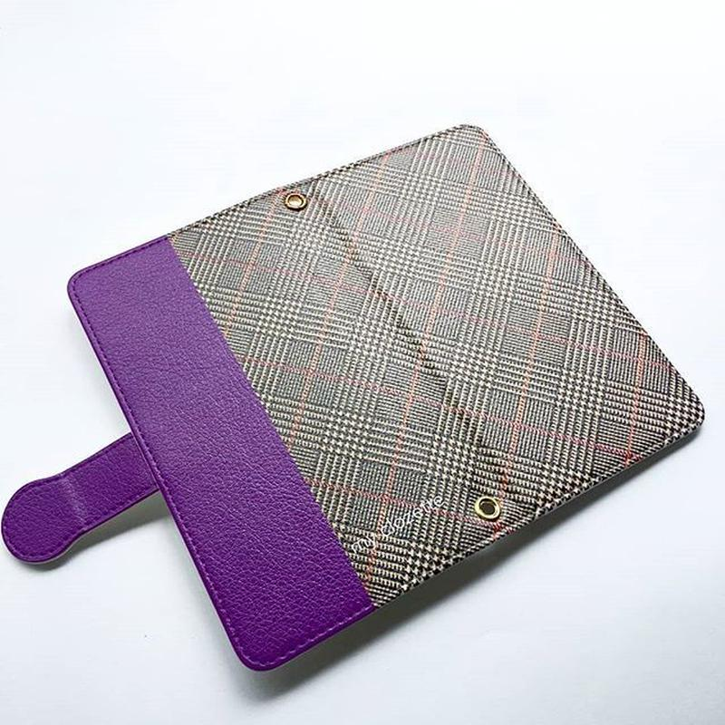 myclozette brown check smart phone cover / Android