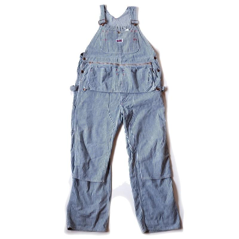 80s BIGMAC /hickory overall/apron付き/doubleknee/USA/USED