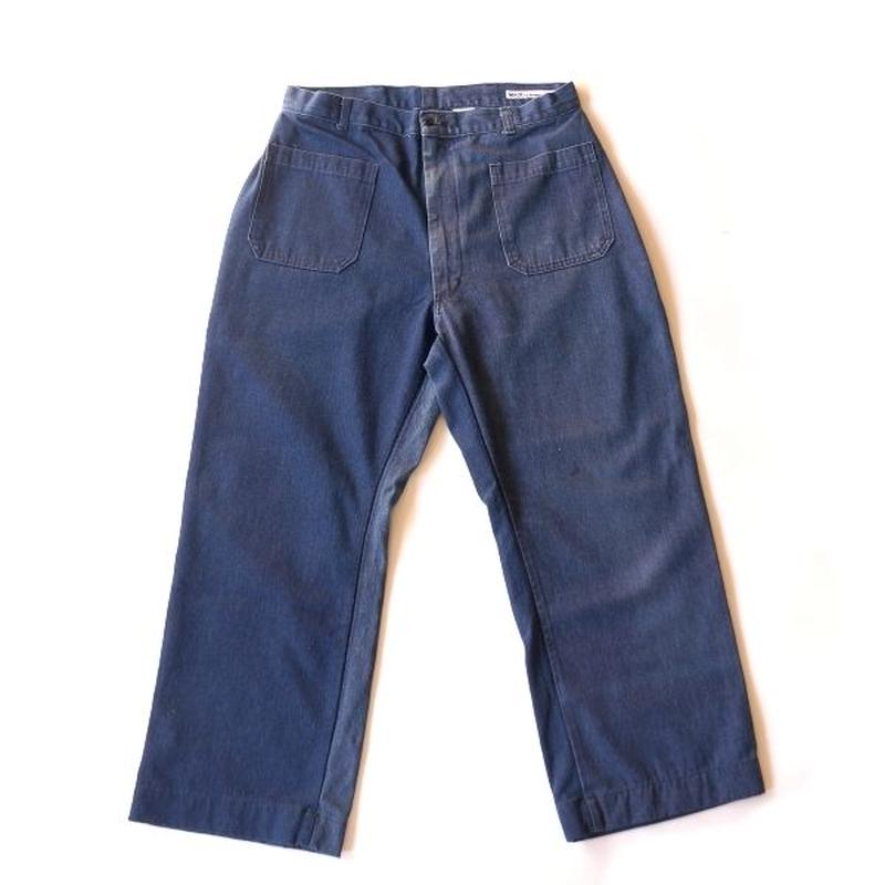 Sunny side up(サニーサイドアップ)/ ユーズドリメイク NAVAL PANTS size4