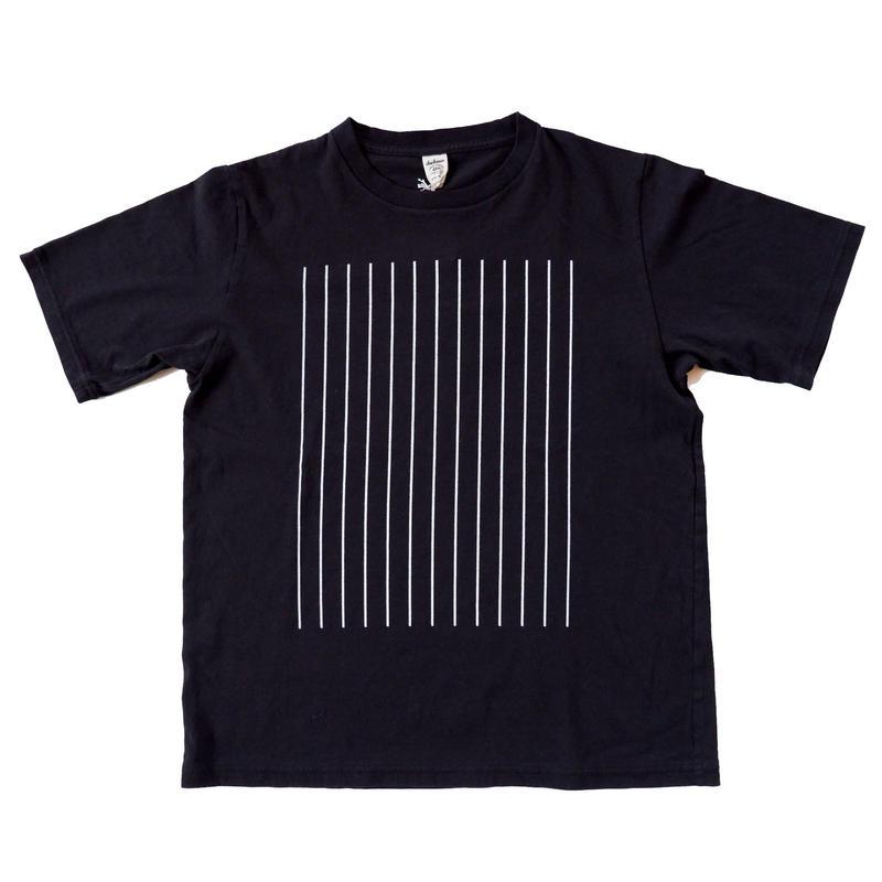 【ラスト1点/サイズM】 Jackman(ジャックマン/ JM5933 アメリカコットン ストライププリントTシャツ/Black
