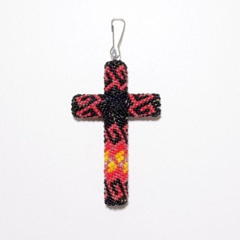 ☆個人的にNo1カラー☆INDIAN JEWELRY/ beads cross necklace top/navajo/ Black