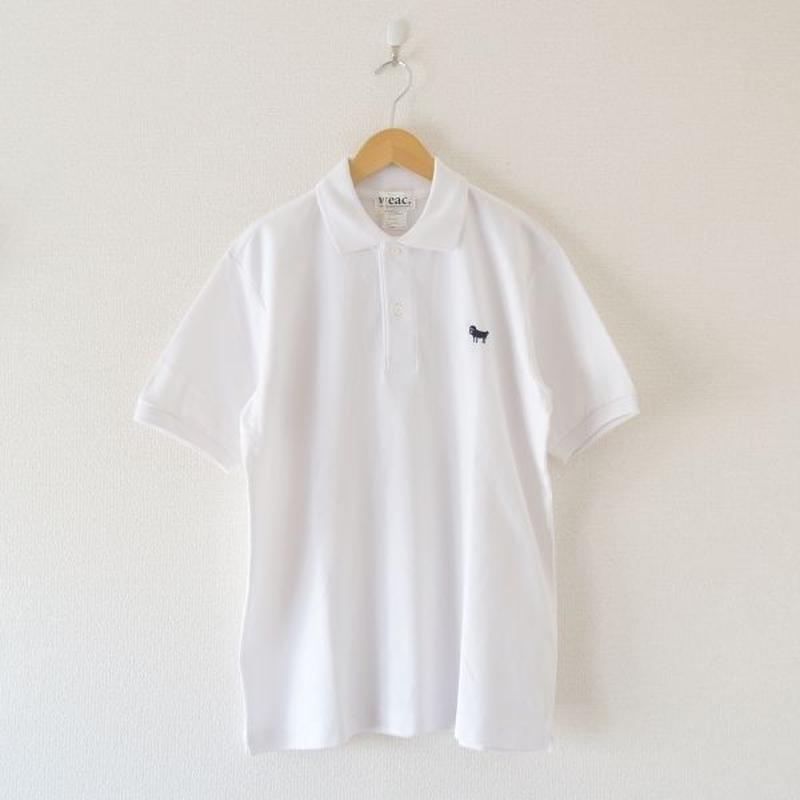 weac.(ウィーク)/パグちゃんポロシャツ  ホワイト