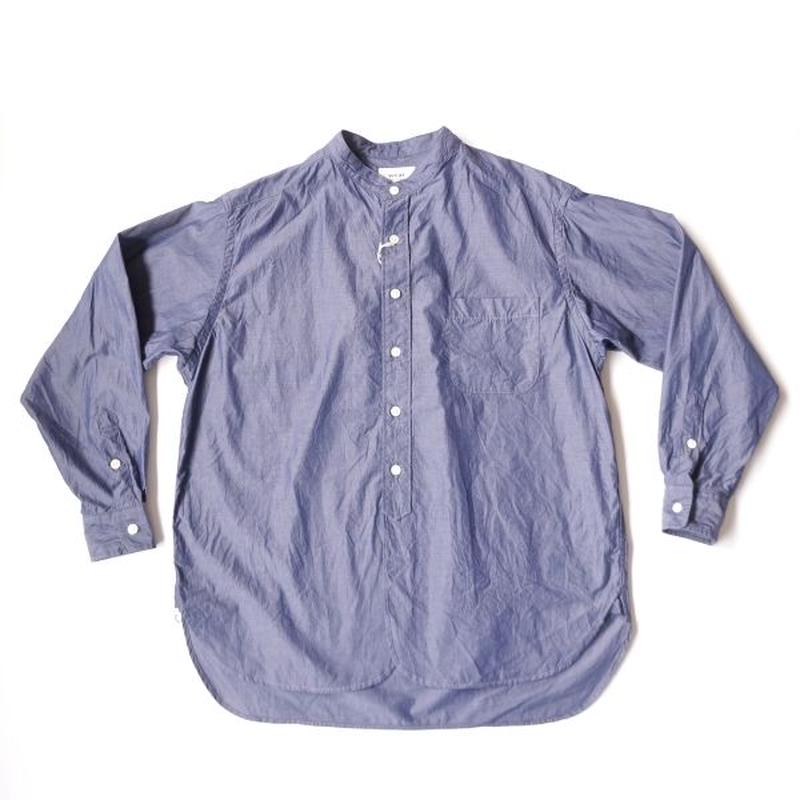 weac.(ウィーク)/BIG MAN ギザ綿 グランパシャツ ネイビー