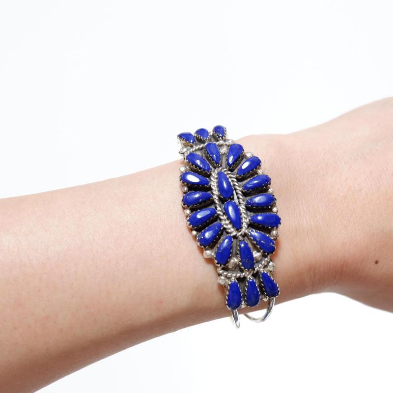 INDIAN JEWELRY/navajo族/lapis lazuli bracelet/bangle
