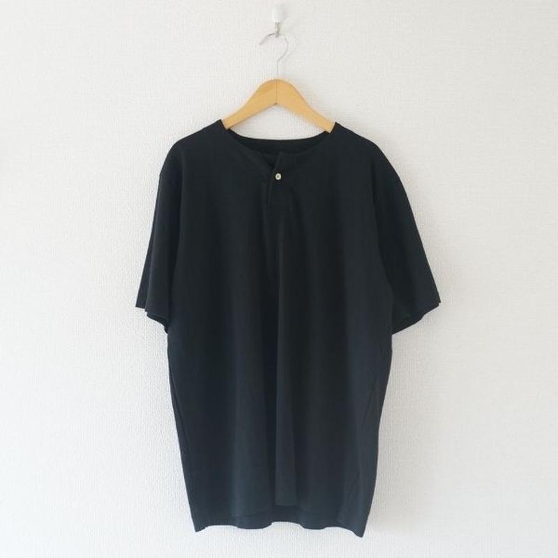 Jackman(ジャックマン) / Henleyneck T-shirt black