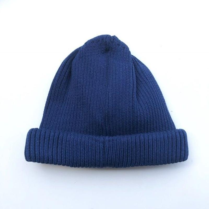RoToTo(ロトト)cotton rollup beanie /NAVY