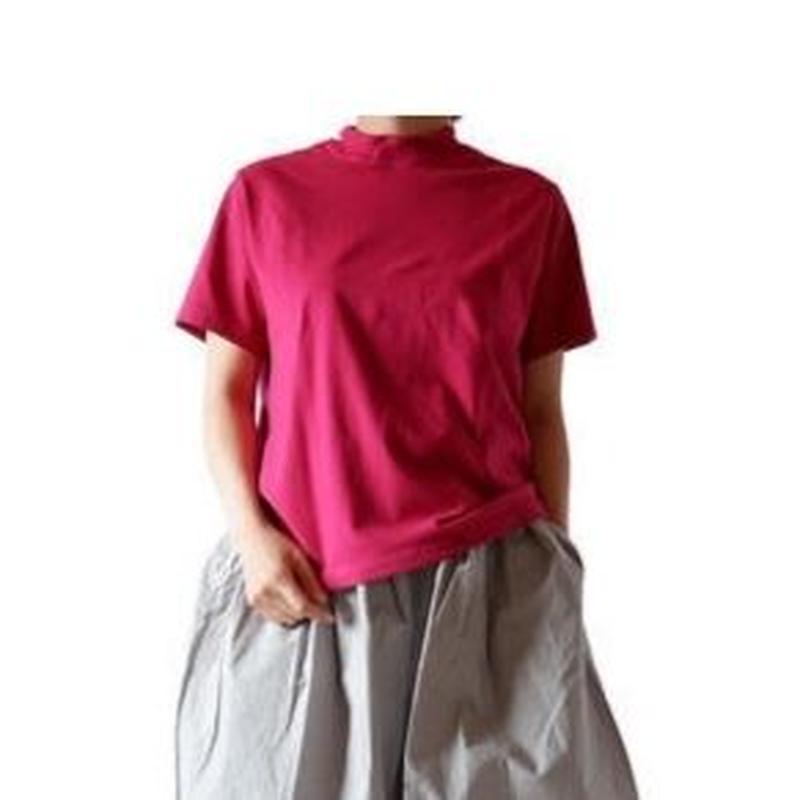 TIGRE BROCANTE (ティグルブロカンテ)/ 梨地天竺バークレー半袖Tシャツ/pink