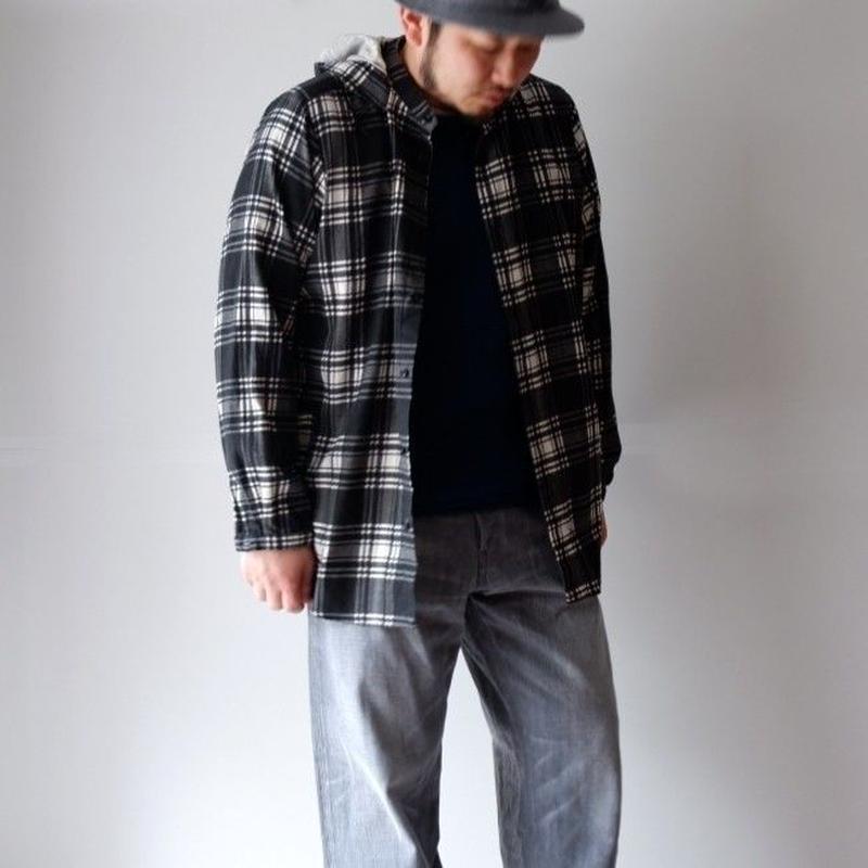 BRU NA BOINNE (ブルーナボイン) /ウォンドパーカーシャツ ブラック