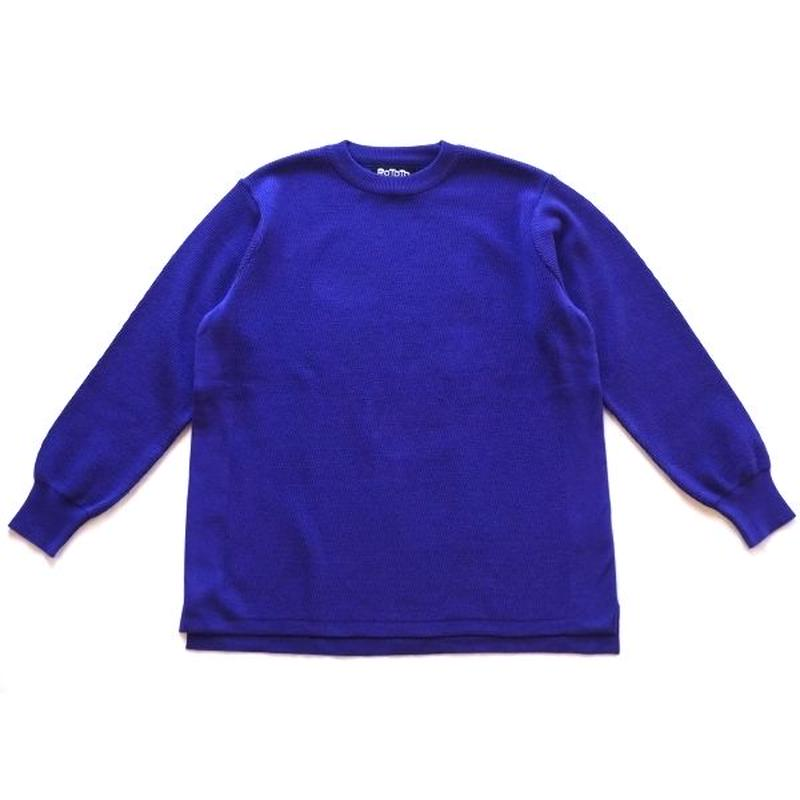 RoToTo(ロトト)/COTTON THERMAL L/S KNIT パープル