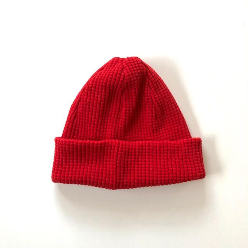 Jackman(ジャックマン)/ Waffle Knit Cap red
