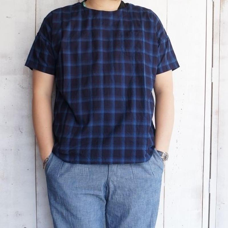 weac.(ウィーク)/CAVANI バスクシャツ INDIGO CHECK