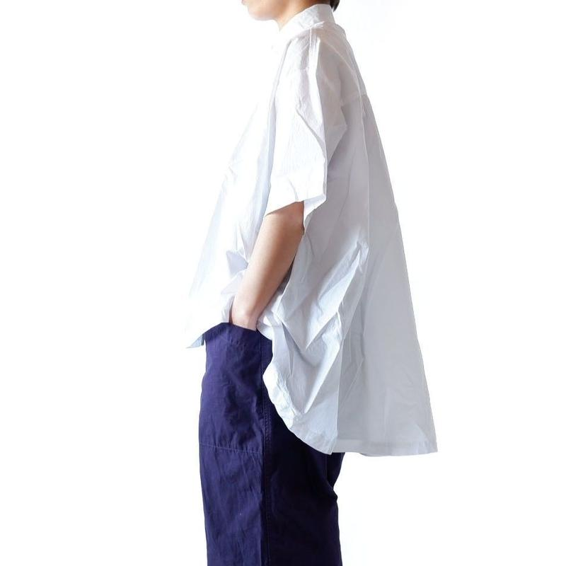 CAERULA (カエルラ)/  50S Combed broad back flare shirts/white