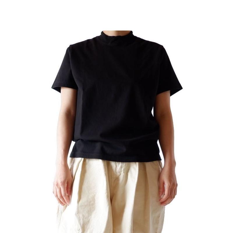 TIGRE BROCANTE (ティグルブロカンテ)/ 梨地天竺バークレー半袖Tシャツ/black