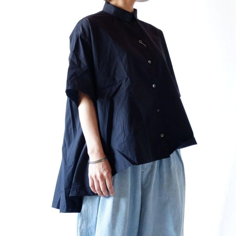 CAERULA (カエルラ)/  50S Combed broad back flare shirts/navy