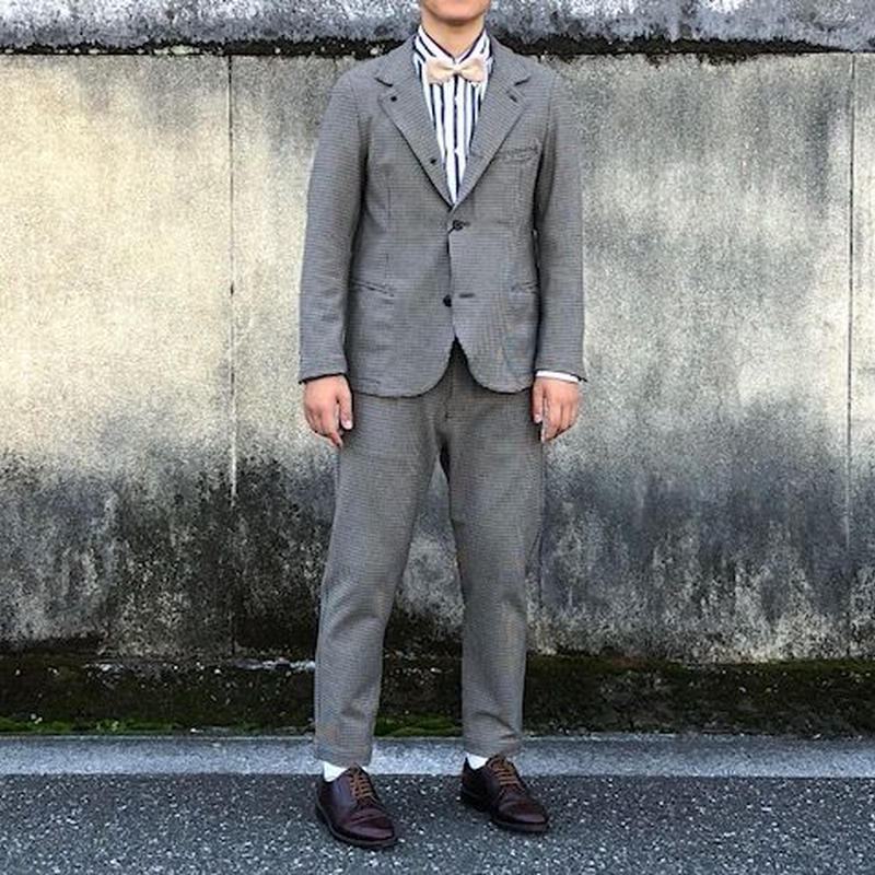 KAFIKA カフィカ トップサーモ ガンクラブチェック テーラードジャケット