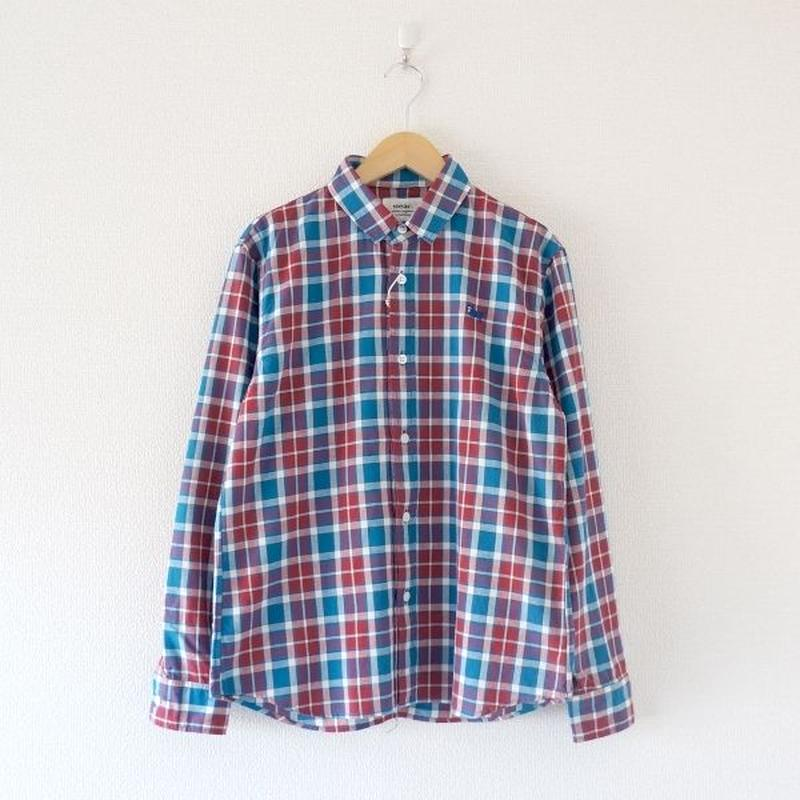 weac.(ウィーク)/パグちゃんシャツ   RED CHECK