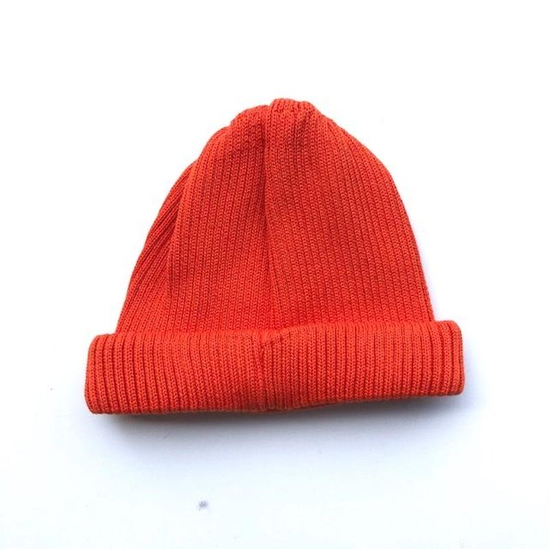 RoToTo(ロトト)cotton rollup beanie /ORANGE