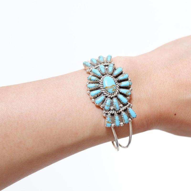 INDIAN JEWELRY/NAVAJO(ナバホ)族 Pamela Benally/turquoise bracelet/bangle
