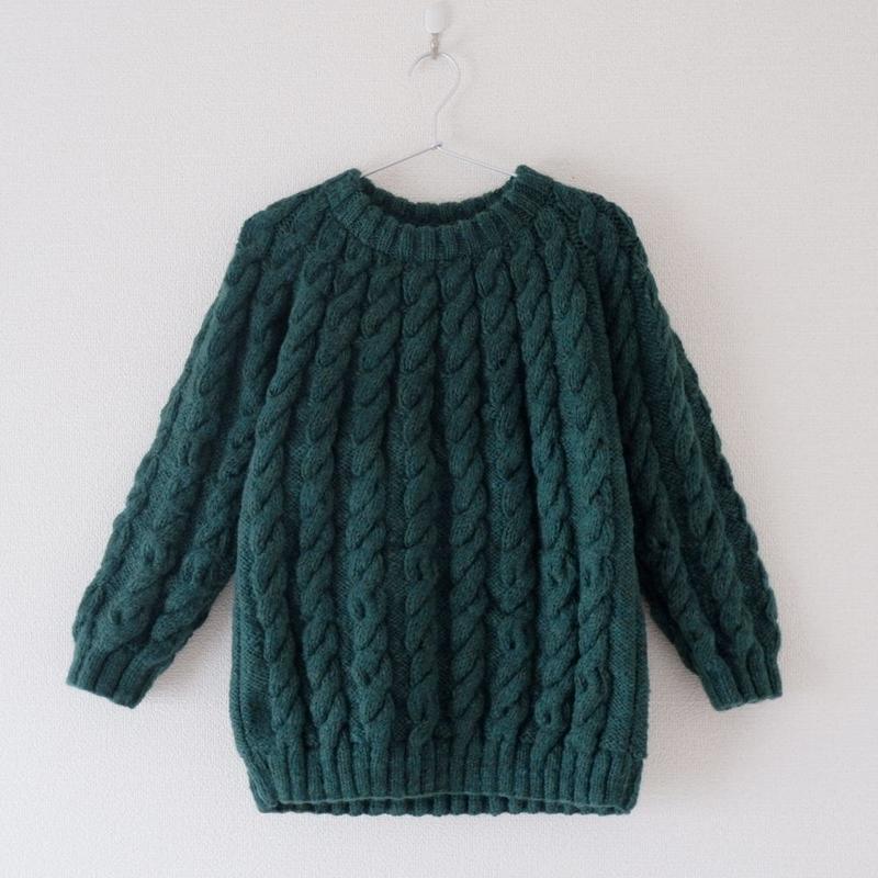 TIGRE BROCANTE(ティグルブロカンテ) wool 求心編み cable knit
