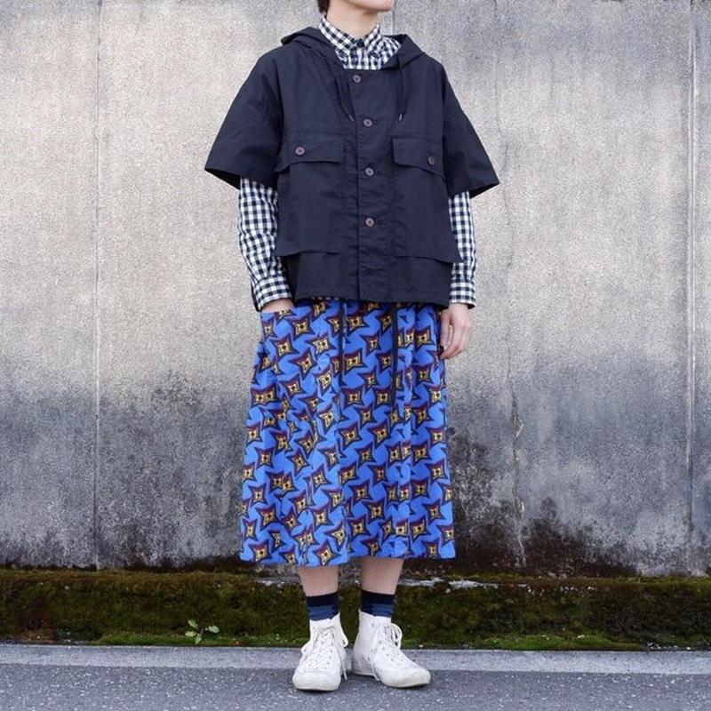 TIGRE BROCANTE( ティグルブロカンテ)/手裏剣ONE POCKET スカート/ブルー