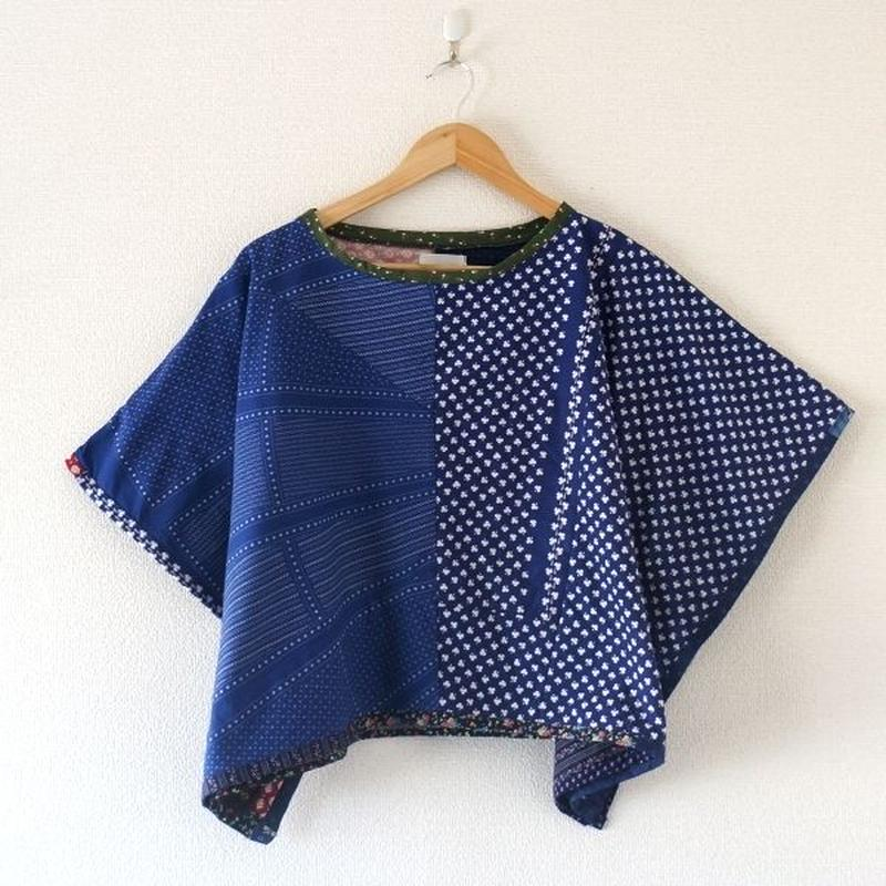 yoused(ユーズド)/lady's Spring poncho vintage flower (2)