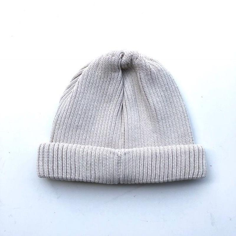 RoToTo(ロトト)cotton rollup beanie /IVORY