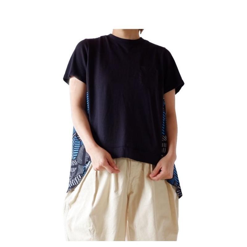 TIGRE BROCANTE(ティグルブロカンテ)/ポケット切替 タックT/スミクロ