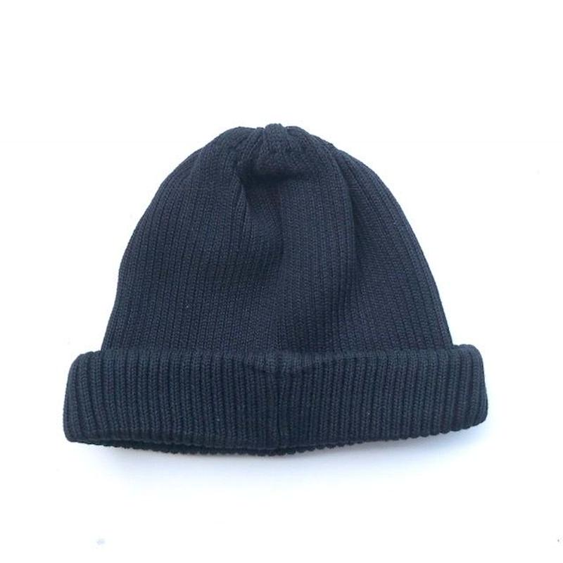 RoToTo(ロトト) cotton rollup beanie/ BLACK