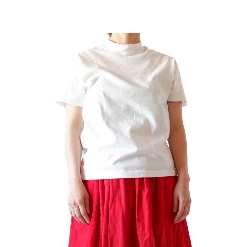 TIGRE BROCANTE (ティグルブロカンテ)/ 梨地天竺バークレー半袖Tシャツ/white