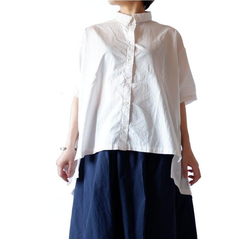 CAERULA (カエルラ)/  50S Combed broad back flare shirts/pink