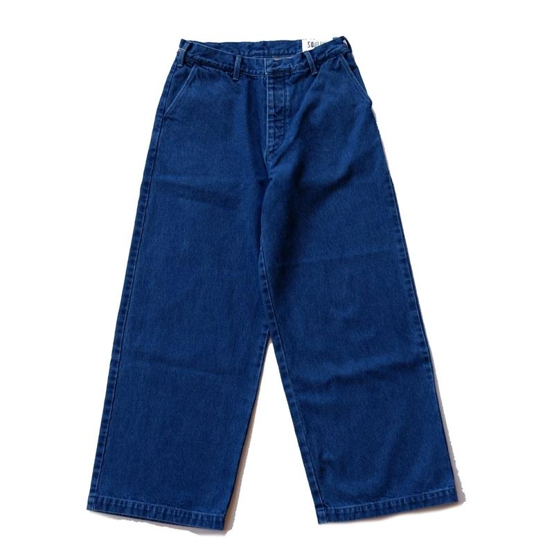SOULIVE(ソウライブ)/wide straight indigo trousers