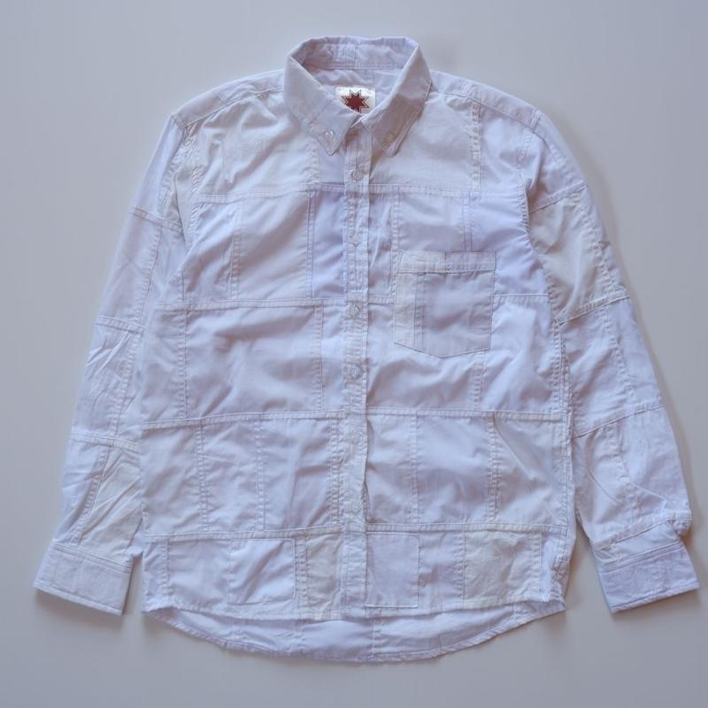 Nasngwam (ナスングワム) /remake white BD shirt/patchwork