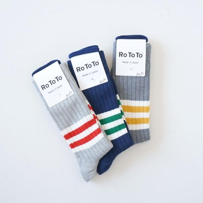 RoToTo(ロトト)/OLDSCHOOL STRIPED SOCKS