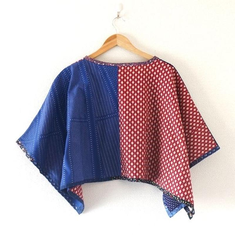 yoused(ユーズド)/lady's Spring poncho vintage flower (3)