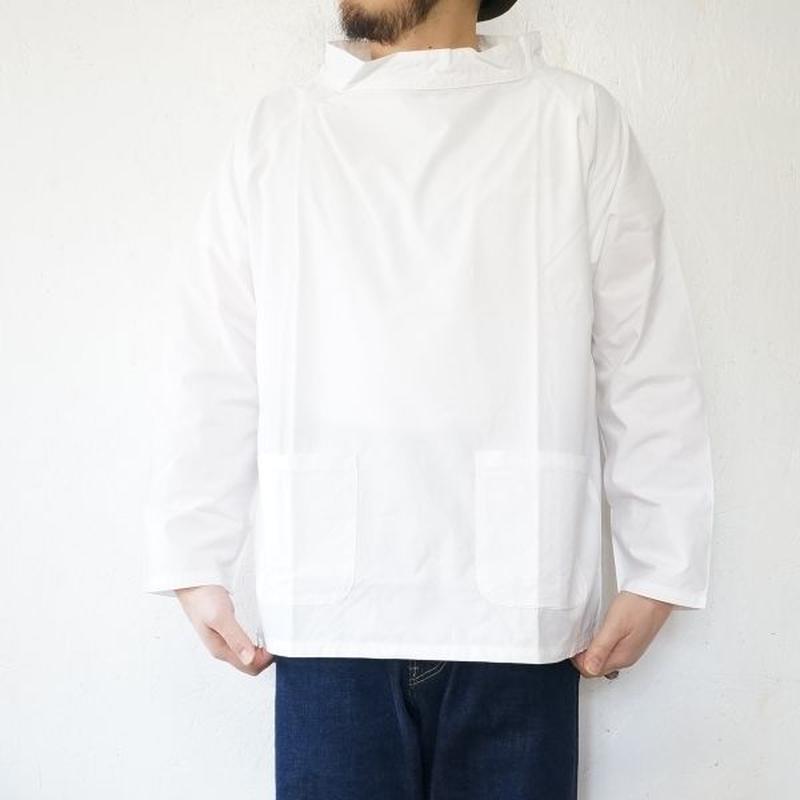 SETTO(セット)/  ハイネック プルオーバーシャツ ホワイト(Men's & Lady's)