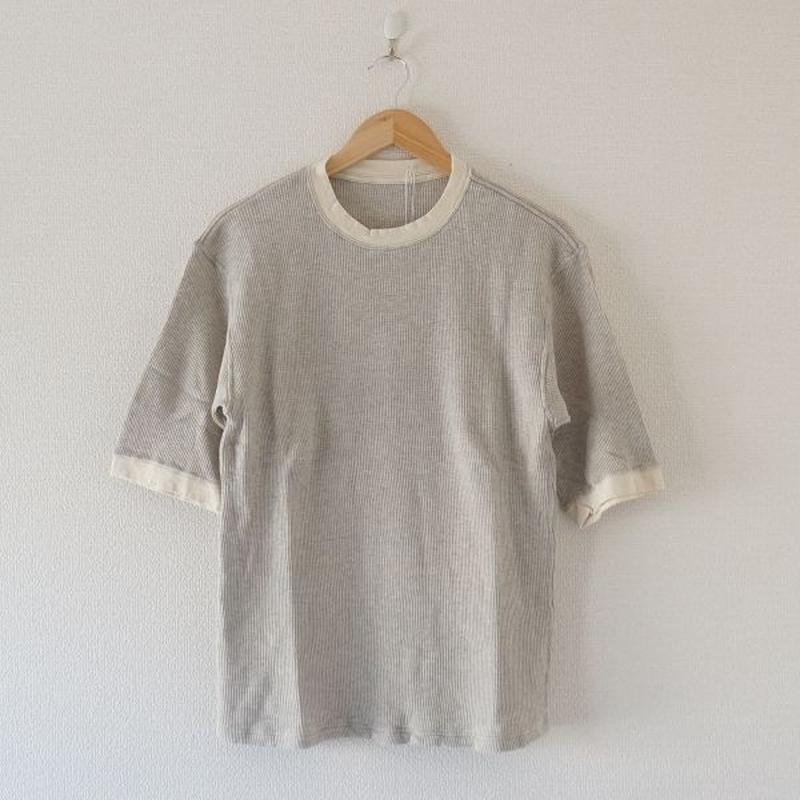 着もちいい服/ W FACE THERMAL M/S T-SHIRT グレー