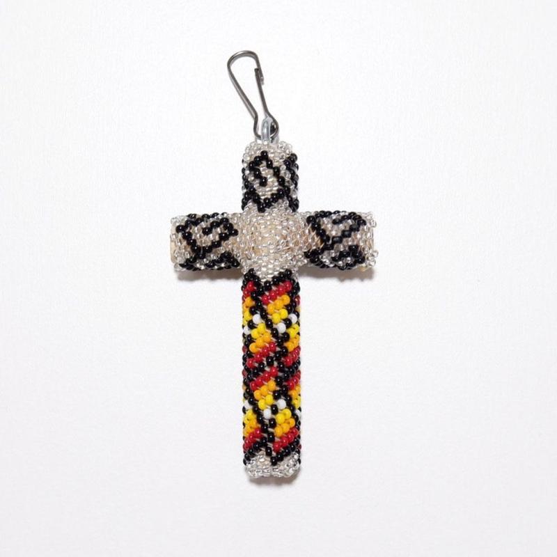 ☆大きめサイズが入荷☆INDIAN JEWELRY/ beads cross necklace top/navajo/ silver