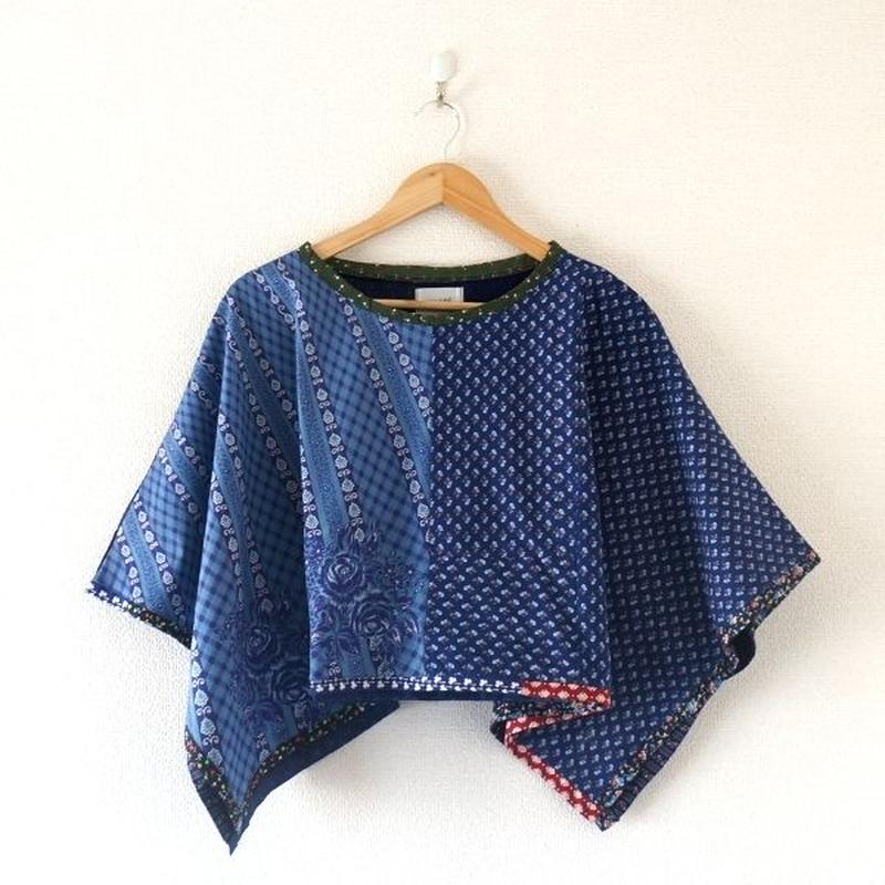 yoused(ユーズド)/lady's Spring poncho vintage flower (1)