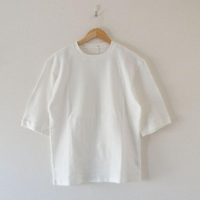 着もちいい服/ W FACE THERMAL M/S T-SHIRT ホワイト