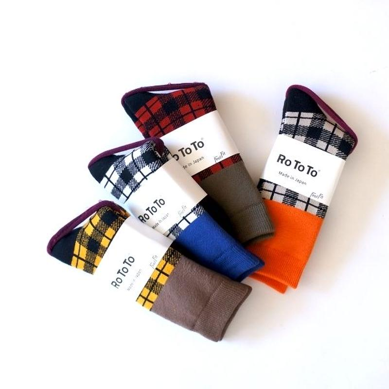 RoToTo(ロトト)/CHECKRED SOCKS