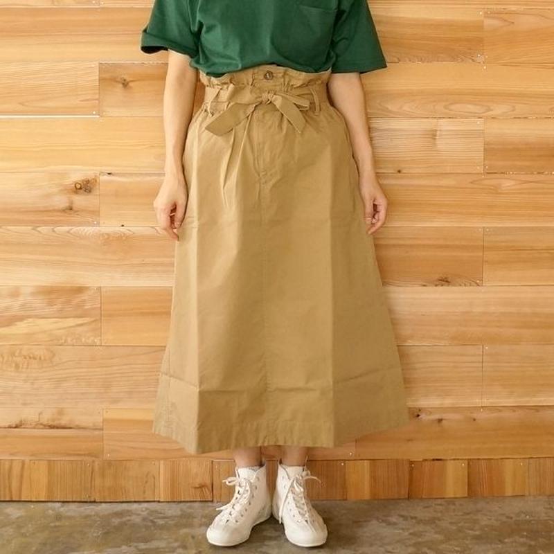 TIGRE BROCANTE(ティグルブロカンテ)/コットンナイロンアーミーロングスカート beige