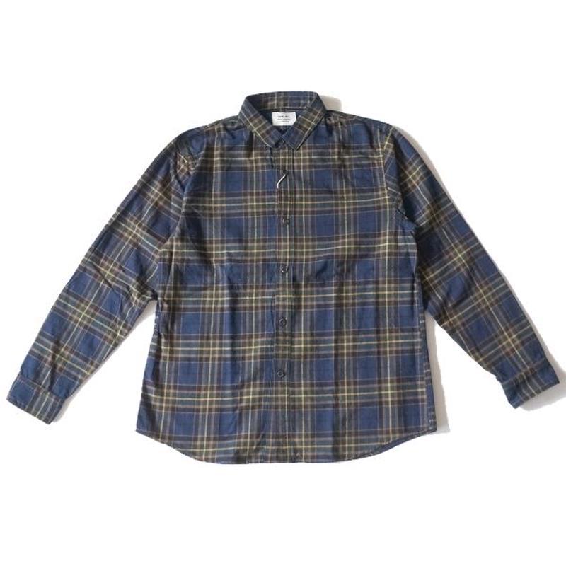 weac.(ウィーク)/クルミちゃんシャツ BLUE /GREEN CHECK