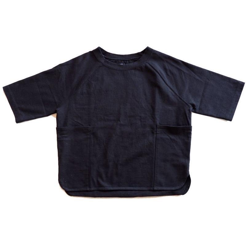 UNIVERSAL TISSU ユニヴァーサルティシュ|ヘビープレーティング ラグランスリーブTシャツ/navy
