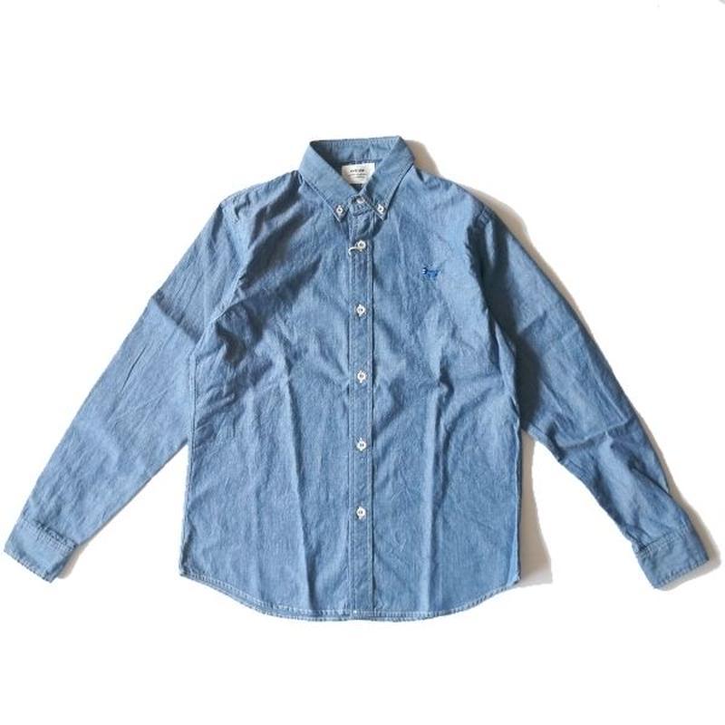 weac.(ウィーク)/パグちゃんシャツ シャンブレー