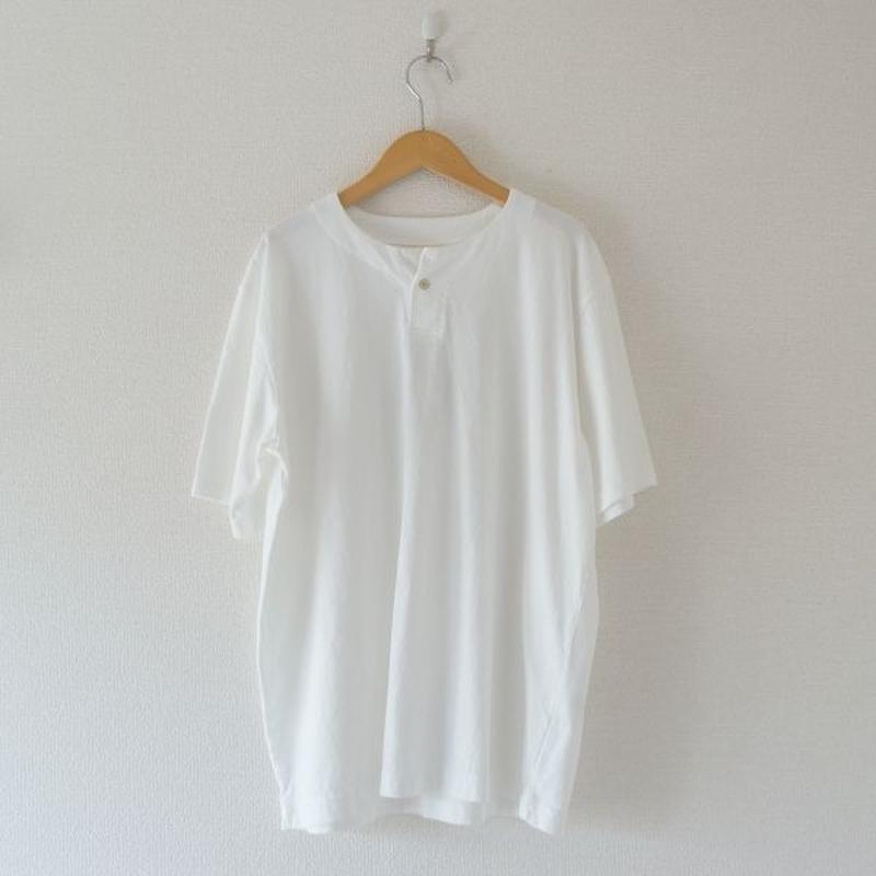 Jackman(ジャックマン) / Henleyneck T-shirt white