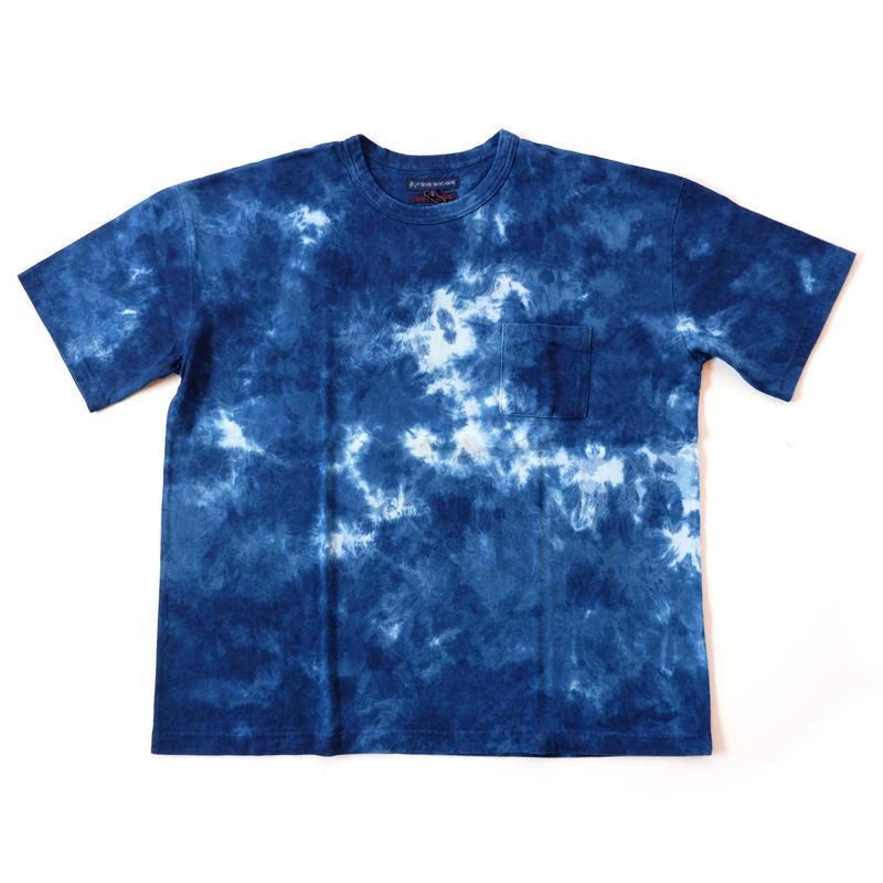 TIGRE BROCANTE(ティグルブロカンテ)/ベニスビーチポケット半袖Tシャツ/indigo tie-dye